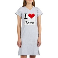 I Love Claire Women's Nightshirt