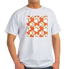 Dog Paws Clemson Orange T-Shirt