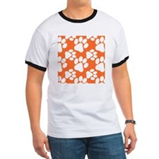 Dog Paws Clemson Orange T