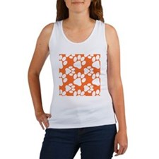 Dog Paws Clemson Orange Women's Tank Top