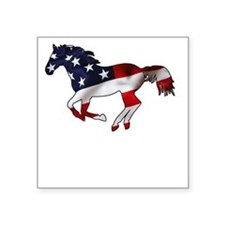 "American Horse Square Sticker 3"" x 3"""