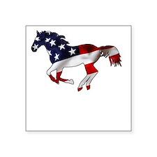 """American Horse Square Sticker 3"""" x 3"""""""