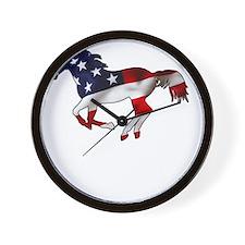 American Horse Wall Clock