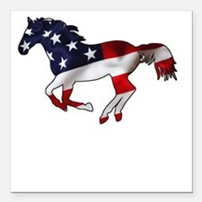 "American Horse Square Car Magnet 3"" x 3"""