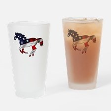 American Horse Drinking Glass