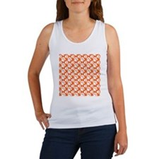 Dog Paws Clemson Orange-Small Women's Tank Top