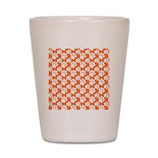 Dog Paws Clemson Orange-Small Shot Glass