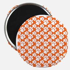 Dog Paws Clemson Orange-Small Magnet