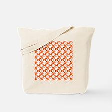 Dog Paws Clemson Orange-Small Tote Bag