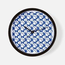 Dog Paws Royal Blue-Small Wall Clock