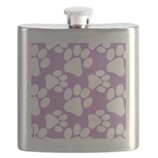 Dog Paws Light Purple Flask