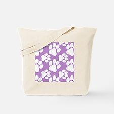 Dog Paws Light Purple Tote Bag
