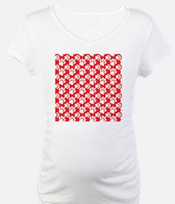 Dog Paws Red-Small Shirt