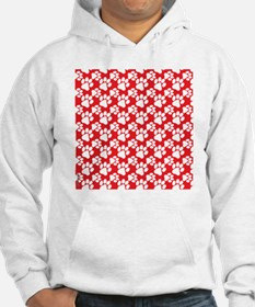 Dog Paws Red-Small Hoodie