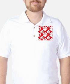 Dog Paws Red T-Shirt