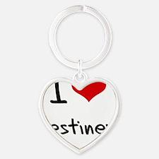 I Love Destiney Heart Keychain