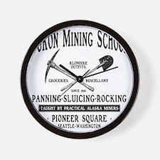 Yukon Mining School Wall Clock