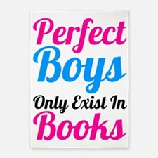 Perfect Boys Only Exist In Books 5'x7'Area Rug