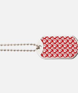 Dog Paws Red-Small Dog Tags