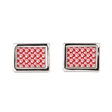 Dog Paws Red-Small Cufflinks