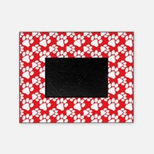 Dog Paws Red-Small Picture Frame