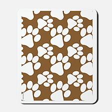 Dog Paws Brown Mousepad