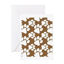 Dog Paws Brown Greeting Card