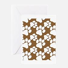 Dog Paws Brown Greeting Card