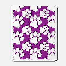 Dog Paws Purple Mousepad