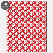 Dog Paws Red-Small Puzzle