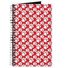 Dog Paws Red-Small Journal