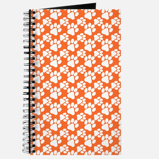 Dog Paws Clemson Orange-Small Journal