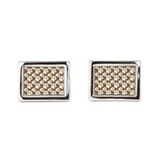 Dog Paws Brown-Small Cufflinks