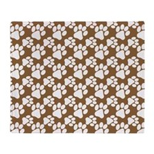 Dog Paws Brown-Small Throw Blanket