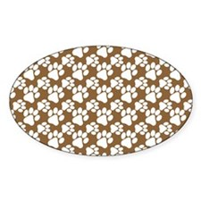 Dog Paws Brown-Small Decal