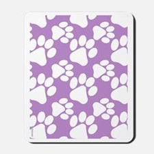 Dog Paws Light Purple Mousepad