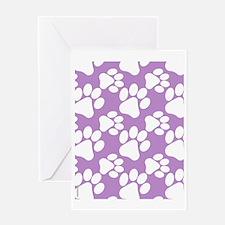 Dog Paws Light Purple Greeting Card
