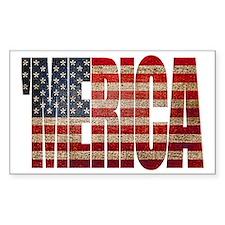 Vintage MERICA U.S. Flag Decal