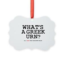 WHATS A GREEK URN Z Ornament