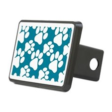 Dog Paws Teal Hitch Cover