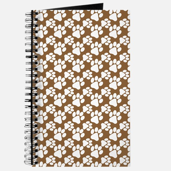 Dog Paws Brown-Small Journal
