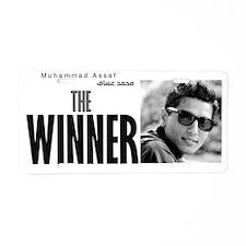 the winner Aluminum License Plate