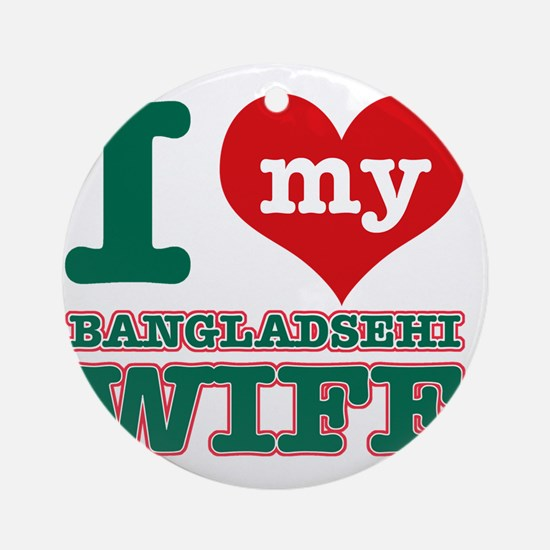 Bangladeshi designs Round Ornament