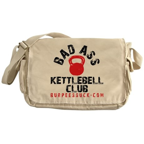 BADASS KETTLEBELL CLUB - WHITE Messenger Bag