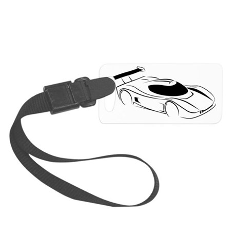Superlite Coupe Outline Small Luggage Tag
