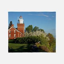 Big Bay Point Lighthouse Throw Blanket