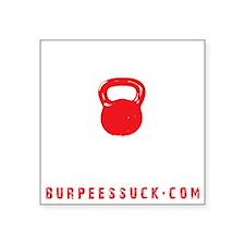 "BADASS KETTLEBELL CLUB - BL Square Sticker 3"" x 3"""