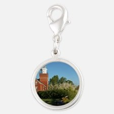 Big Bay Point Lighthouse Silver Round Charm