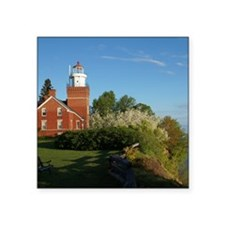 "Big Bay Point Lighthouse Square Sticker 3"" x 3"""