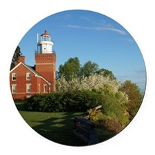 Big Bay Point Lighthouse Round Car Magnet